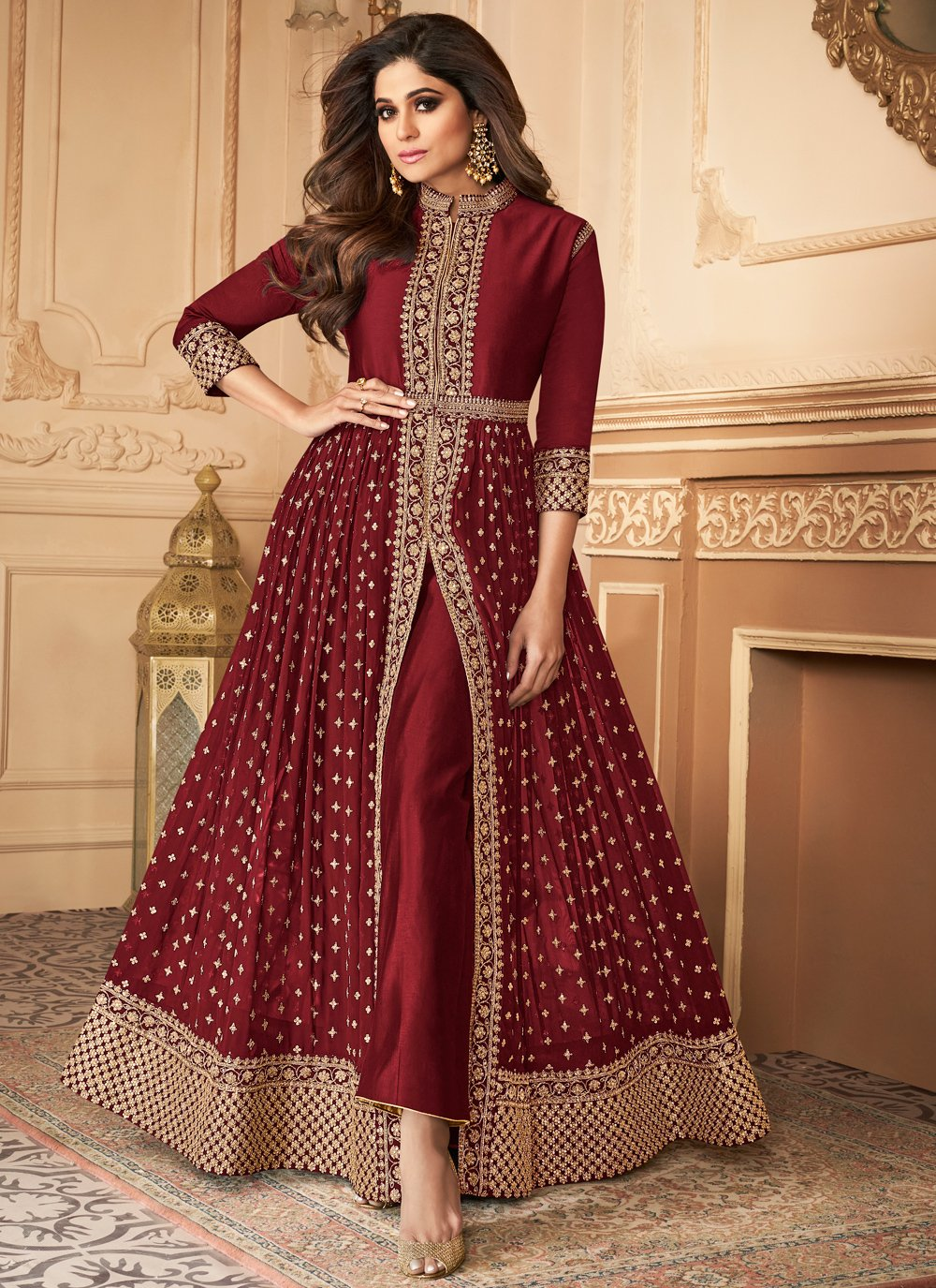 Georgette Embroidered Trendy Salwar Suit