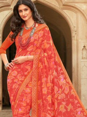 Georgette Festival Saree