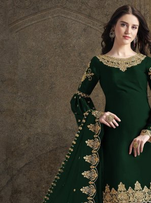 Georgette Green Designer Suit