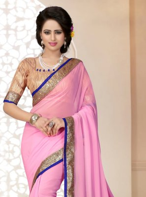 Georgette Lace Saree