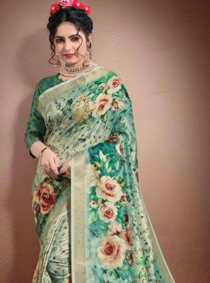 Georgette Multi Colour Classic Designer Saree