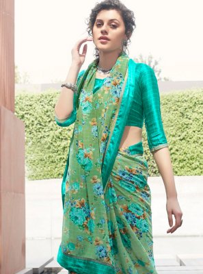 Georgette Multi Colour Classic Saree