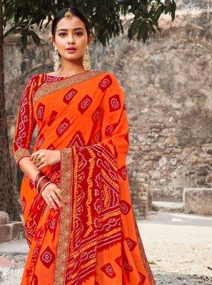 Georgette Multi Colour Contemporary Style Saree