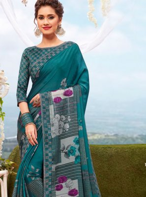 Georgette Multi Colour Printed Casual Saree