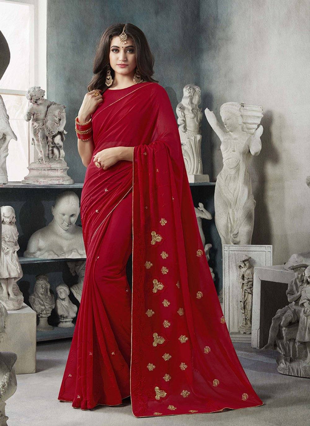 Georgette Party Classic Saree