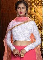 Georgette Pink Plain Designer Lehenga Choli
