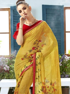 Georgette Printed Classic Saree
