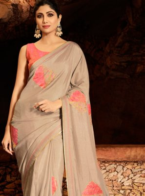 Georgette Resham Trendy Saree