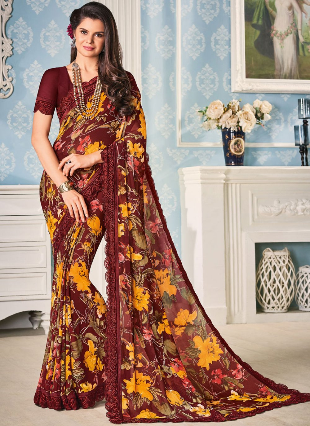 Georgette Sangeet Casual Saree