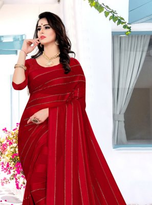 Georgette Satin Ceremonial Traditional Saree