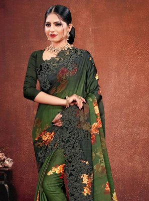 Georgette Satin Multi Colour Classic Saree