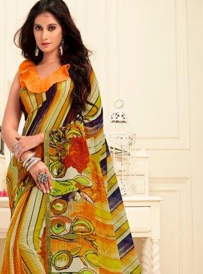 Georgette Trendy Saree in Multi Colour