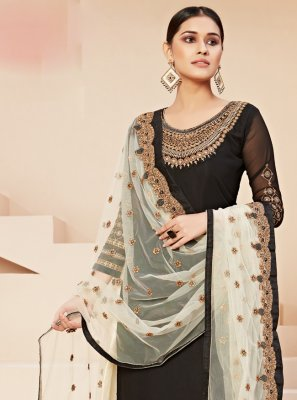 Georgette Wedding Trendy Straight Salwar Kameez