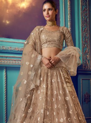 Gold Ceremonial A Line Lehenga Choli