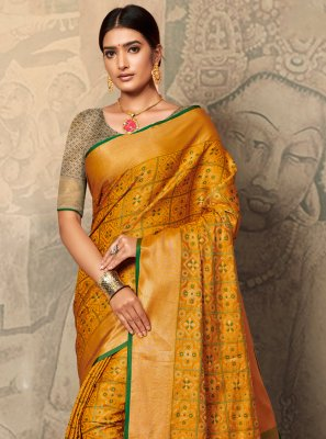 Gold Color Bollywood Saree