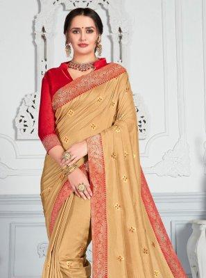 Gold Color Classic Saree