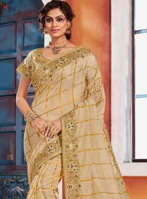 Gold Color Designer Saree
