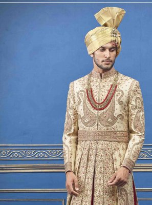 Gold Embroidered Sherwani