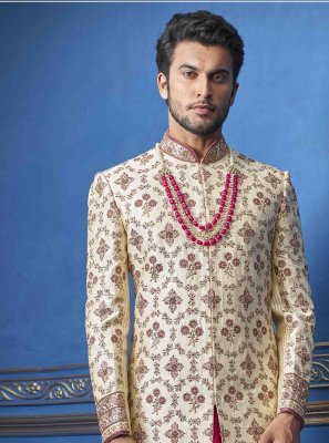 Gold Engagement Sherwani