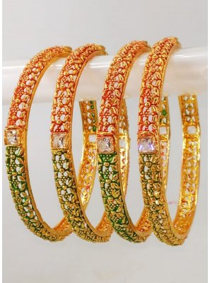 Gold Mehndi Bangles