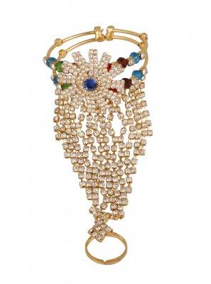 Gold Mehndi Bracelet