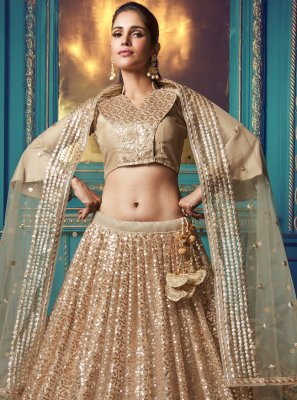 Gold Party Lehenga Choli