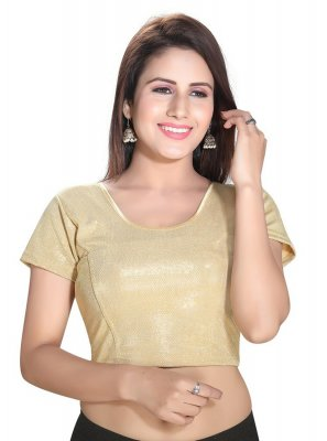 Gold Plain Cotton Lycra Blouse