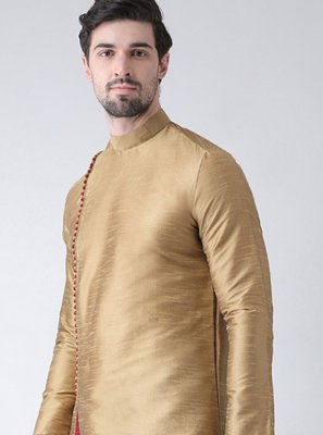 Gold Plain Kurta