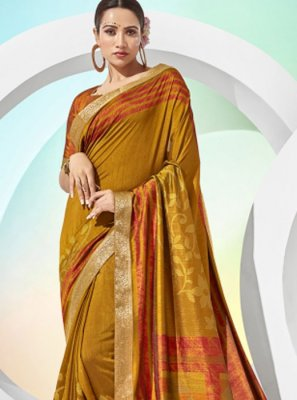 Gold Printed Printed Saree