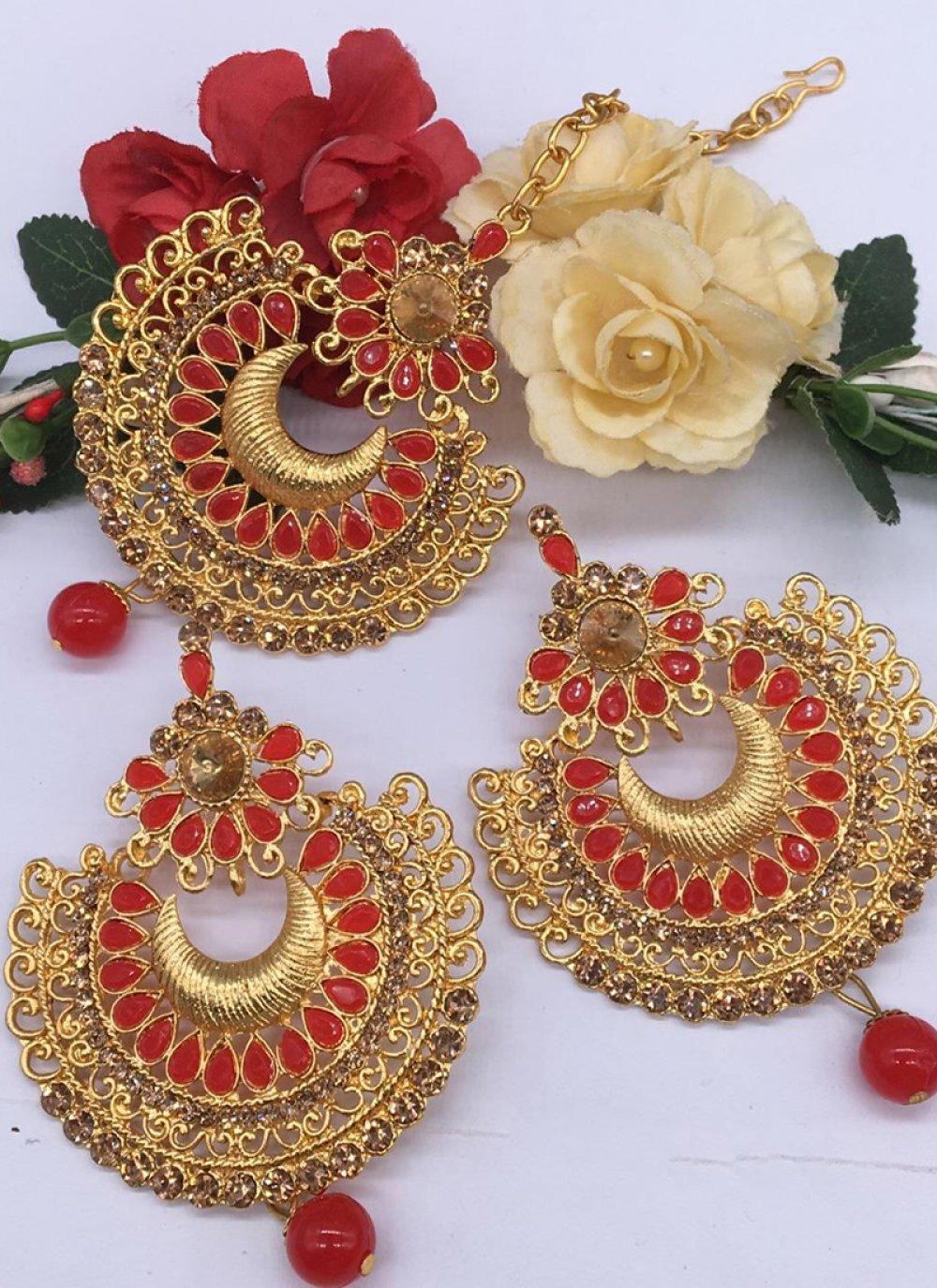 Gold Sangeet Ear Rings