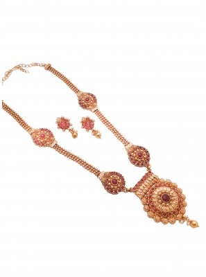 Gold Stone Reception Necklace Set