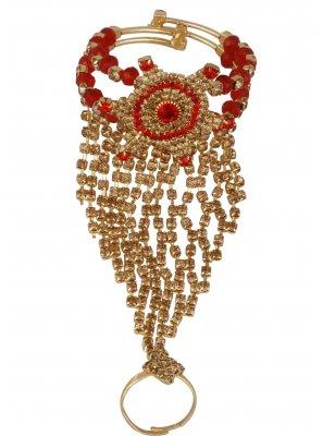 Gold Stone Work Bracelet