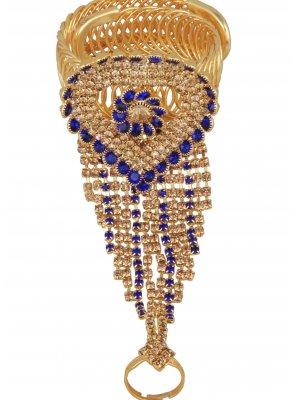 Gold Stone Work Engagement Bracelet
