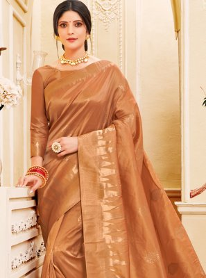 Gold Weaving Silk Classic Saree