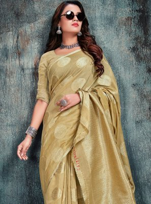 Gold Weaving Silk Silk Saree