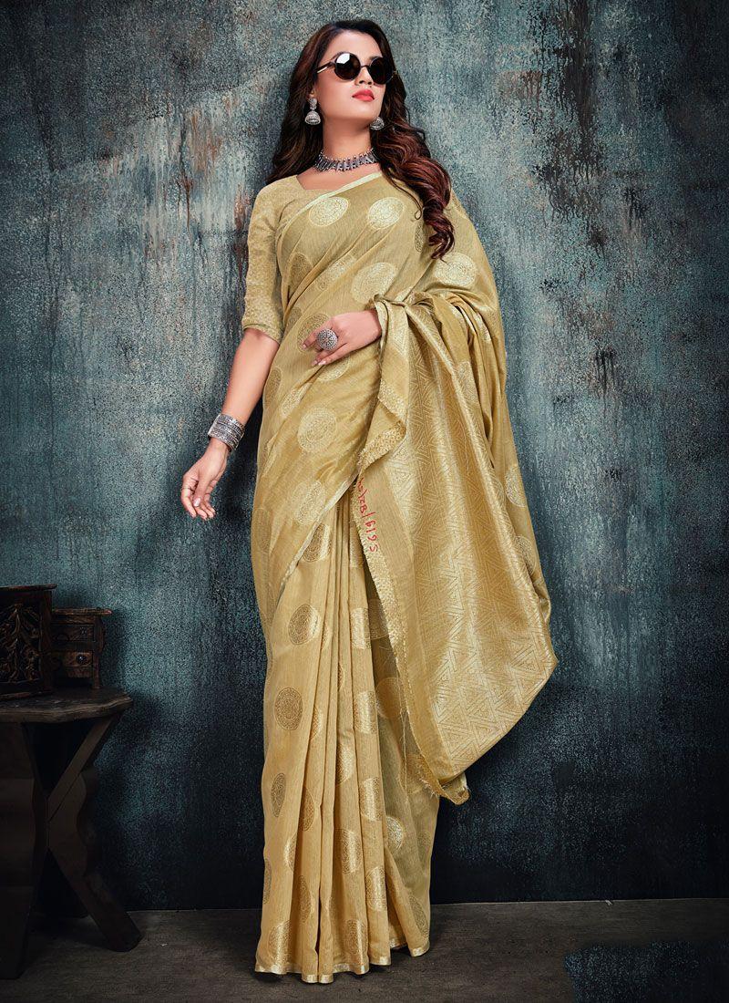 Gold Weaving Silk Silk Saree