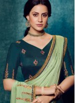 Green and Teal Designer Traditional Saree