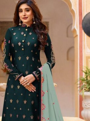 Green and Teal Dori Work Designer Pakistani Salwar Suit