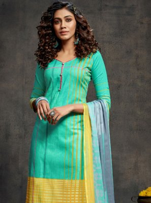 Green and Turquoise Festival Designer Palazzo Salwar Suit
