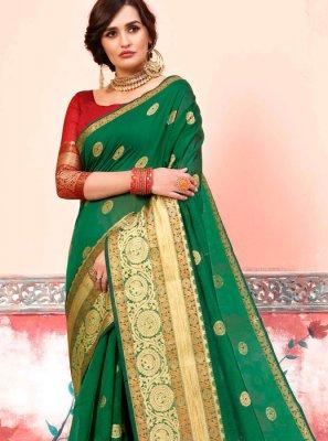 Green Art Silk Cotton Party Designer Traditional Saree