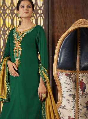 Green Art Silk Designer Long Lehenga Choli