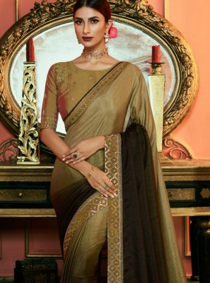 Green Art Silk Embroidered Silk Saree