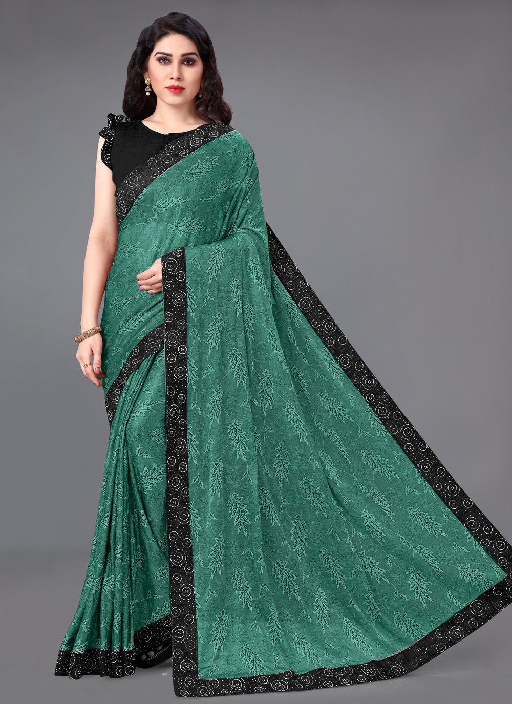 Green Border Classic Saree