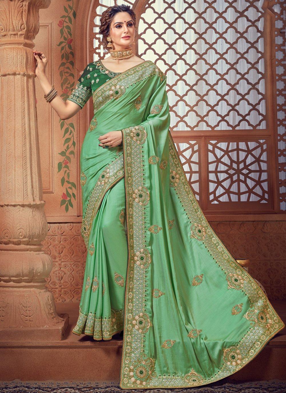 Green Border Trendy Saree