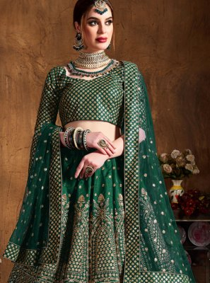 Green Bridal Lehenga Choli