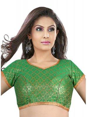 Green Brocade Weaving Designer Blouse