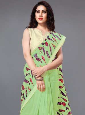 Green Casual Classic Saree