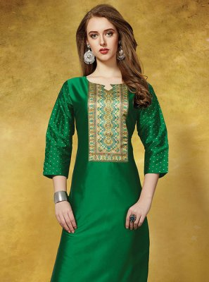 Green Casual Party Wear Kurti