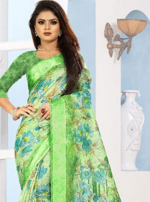 Green Casual Saree