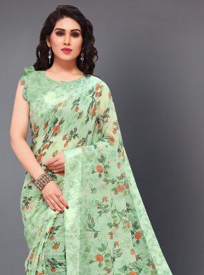 Green Casual Trendy Saree
